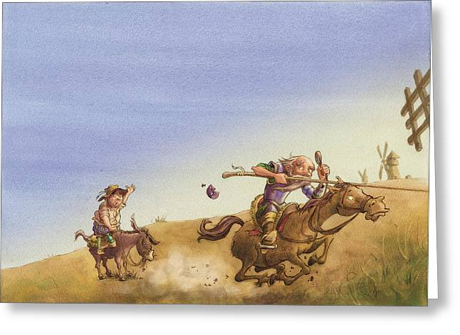Don Quixote Greeting Cards - Don Quixote Greeting Card by Andy Catling