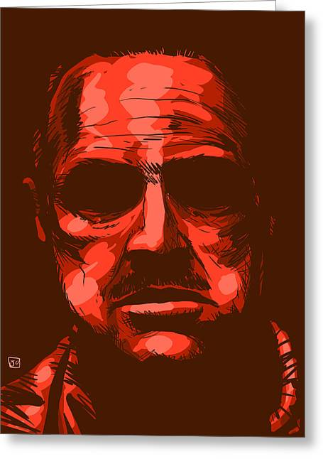 Coppola Greeting Cards - Don Vito Corleone Greeting Card by Giuseppe Cristiano