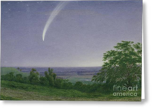 Comet Greeting Cards - Donatis Comet - Oxford Greeting Card by William Turner