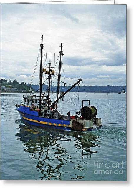 Oregon Fishing Greeting Cards - Done For The Day Greeting Card by Methune Hively