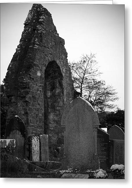 Headstones Greeting Cards - Donegal Abbey Ruins Donegal Ireland Greeting Card by Teresa Mucha