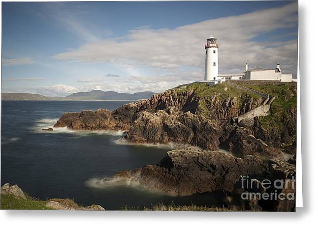 Donegal Lighthouse Greeting Card by Andrew  Michael