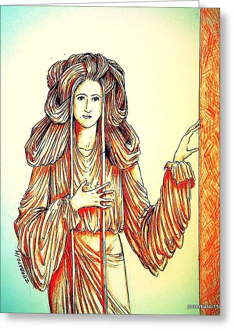 Symbolic Of The Child Greeting Cards - Donna Angelicata Greeting Card by Paulo Zerbato