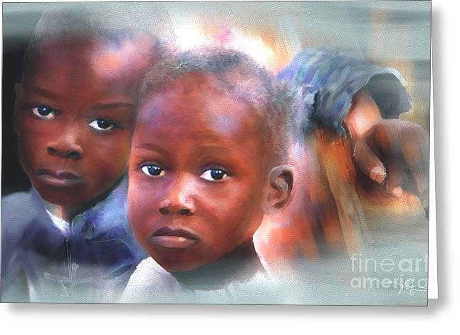 Haitian Digital Art Greeting Cards - Dont Let Us Fade Away Greeting Card by Bob Salo