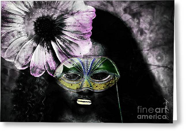 Calling Mixed Media Greeting Cards - Dont Look at Meee Greeting Card by Fania Simon