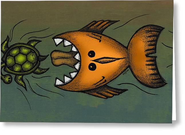 Fish Mixed Media Greeting Cards - Dont Look Back Greeting Card by Kelly Jade King
