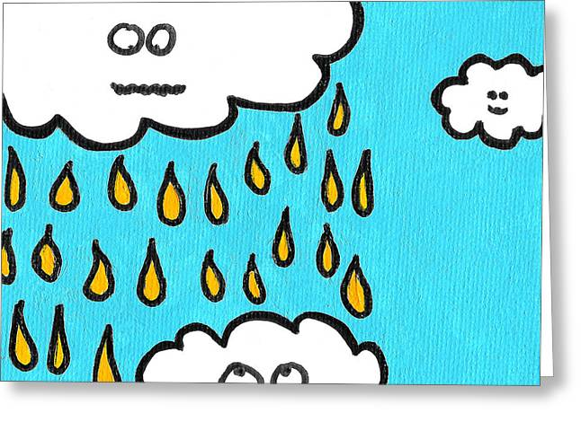 Storm Clouds Drawings Greeting Cards - Dont Pee On Me Greeting Card by Jera Sky