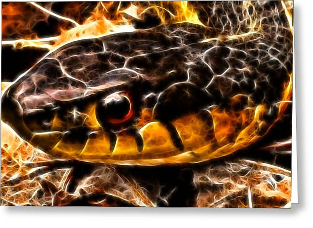 Scale Digital Art Greeting Cards - Dont Tread On Me Greeting Card by Joetta West