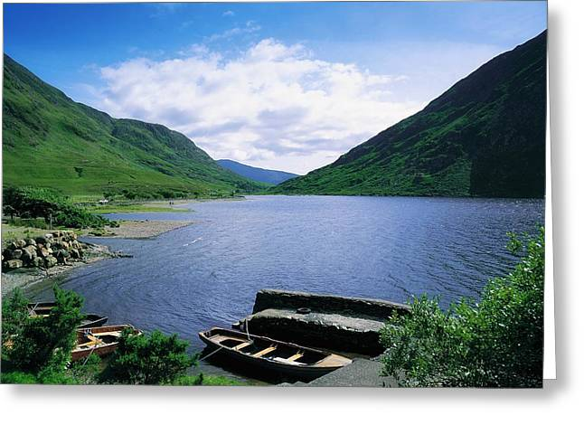 Connaught Greeting Cards - Doo Lough, Delphi, Co Mayo, Ireland Greeting Card by The Irish Image Collection