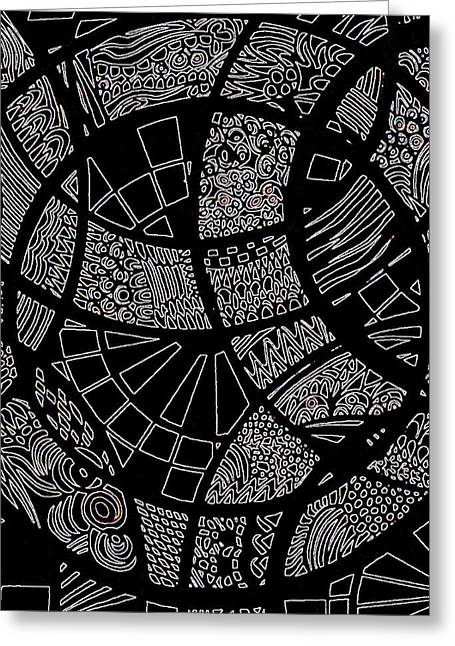 Recently Sold -  - Purchase Greeting Cards - Doodle art 1 Greeting Card by Karen Elzinga
