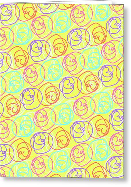 Bold Style Greeting Cards - Doodles Greeting Card by Louisa Knight