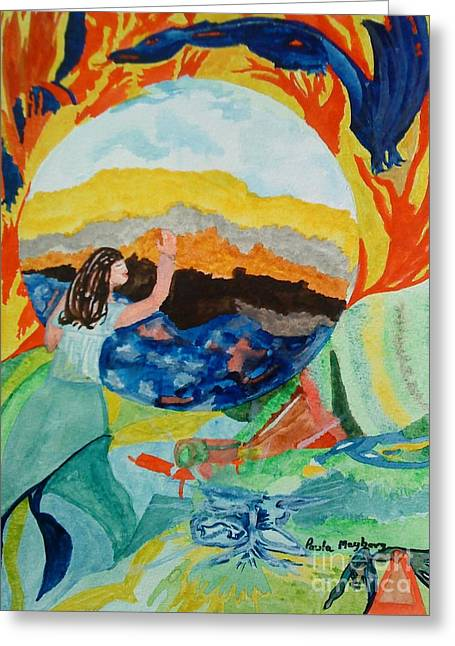 Babylon Paintings Greeting Cards - Doodlewat13 Babylon Greeting Card by Paula Maybery