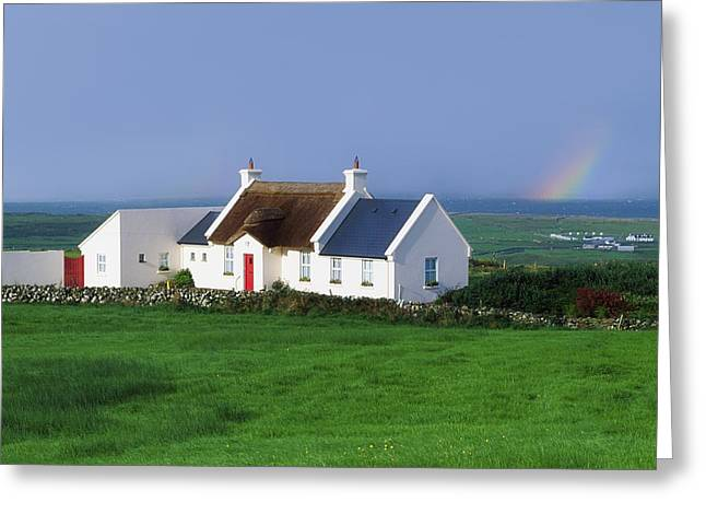 Thatch Greeting Cards - Doolin, Co Clare, Ireland Renovated Greeting Card by The Irish Image Collection