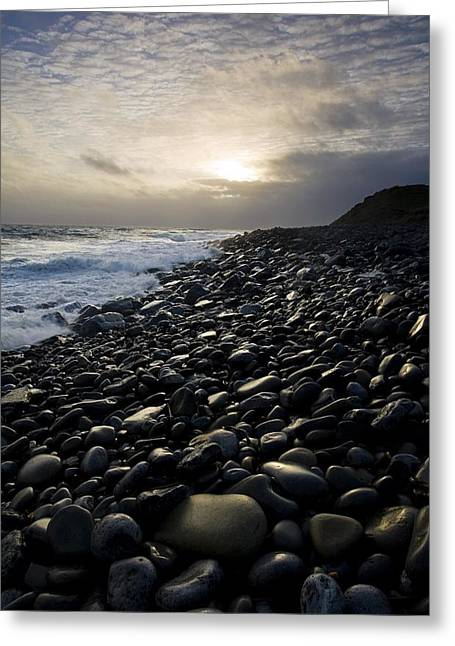 Scenes Of Pebble Beach Greeting Cards - Doolin, County Clare, Ireland Pebble Greeting Card by Peter McCabe