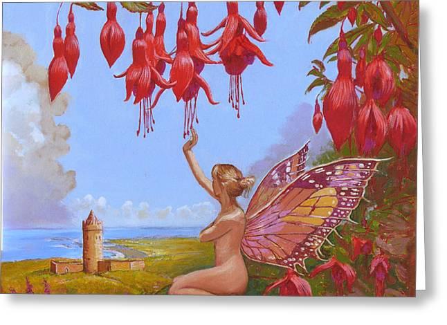 Doolin Fairy Greeting Card by Tomas OMaoldomhnaigh