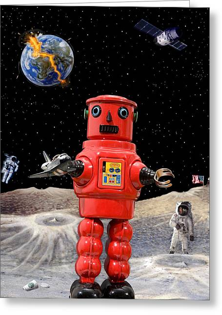Scenario Greeting Cards - Doomsday Escape Greeting Card by L S Keely