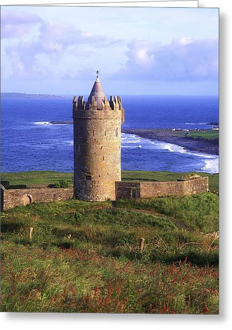 Birthright Greeting Cards - Doonagore Castle, Co Clare, Ireland Greeting Card by The Irish Image Collection