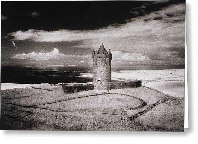 Clare Greeting Cards - Doonagore Tower Greeting Card by Simon Marsden