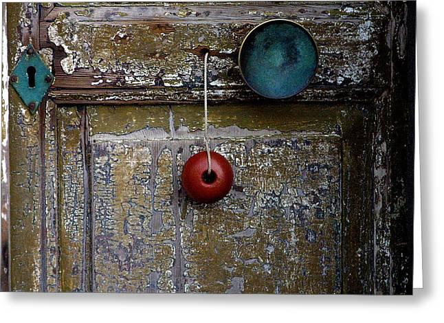 Old Door Greeting Cards - Door Adornments Greeting Card by TB Sojka
