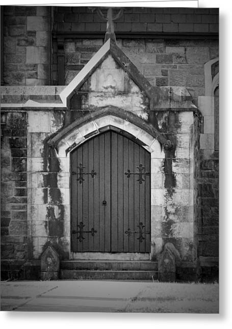 Ireland Greeting Cards - Door at St. Johns in Tralee Ireland Greeting Card by Teresa Mucha