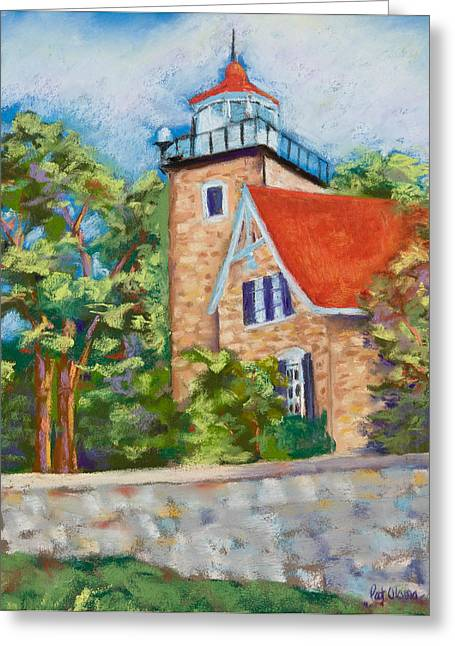 Door County Lighthouse Greeting Card by Pat Olson