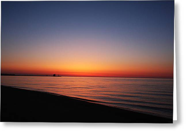 Sturgeon Bay Greeting Cards - Door County Sunrise Greeting Card by Ty Helbach