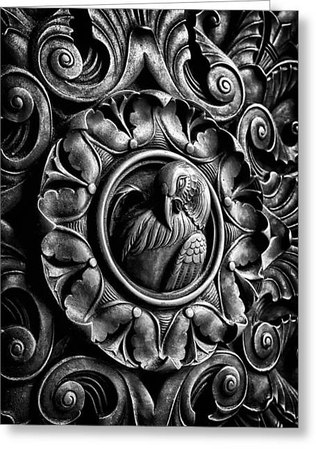 Blackrussianstudio Greeting Cards - Door detail 2 Greeting Card by Val Black Russian Tourchin