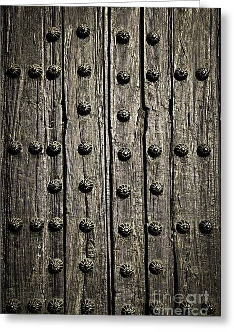 Medieval Entrance Photographs Greeting Cards - Door detail Greeting Card by Elena Elisseeva