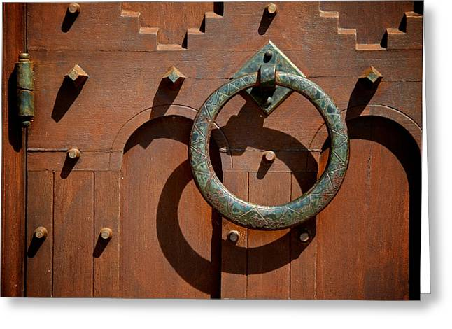 Old Door Greeting Cards - Door Detail Greeting Card by Odd Jeppesen