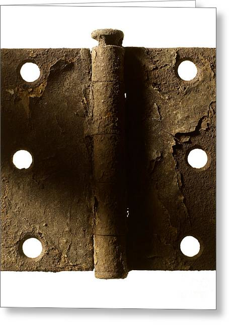 Oxidation Greeting Cards - Door Hinge Greeting Card by Tony Cordoza