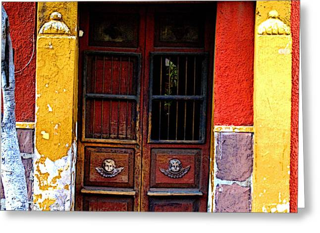 Door in the House of Icons Greeting Card by Olden Mexico