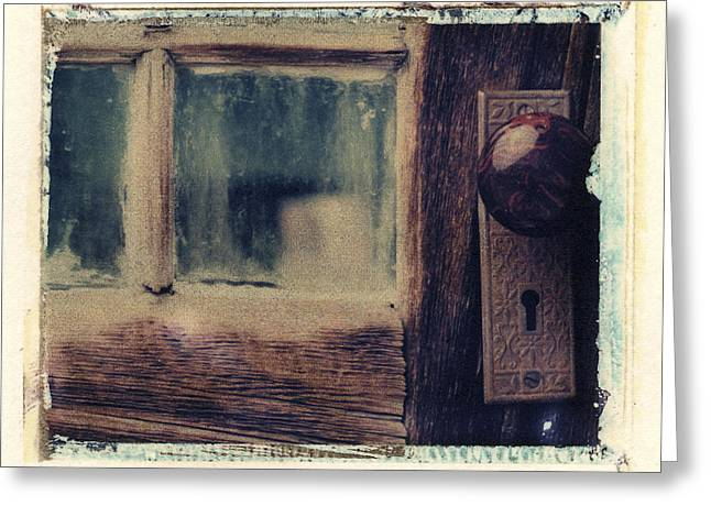 Polaroid Transfer Greeting Cards - Door Knob and Window Greeting Card by Joe  Palermo
