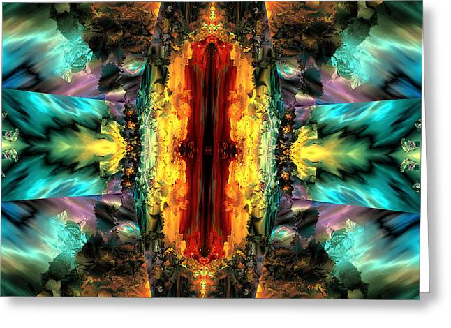 Algorithmic Greeting Cards - Door of destiny Greeting Card by Claude McCoy