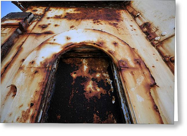 Door Of Rust Greeting Card by David Lee Thompson