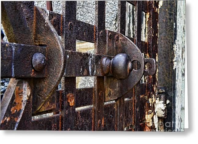 Door to Death Row Greeting Card by Paul Ward
