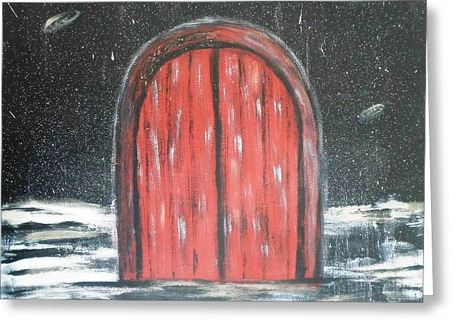 Star Of Bethlehem Greeting Cards - Door to Eternity Greeting Card by Diane Wigstone