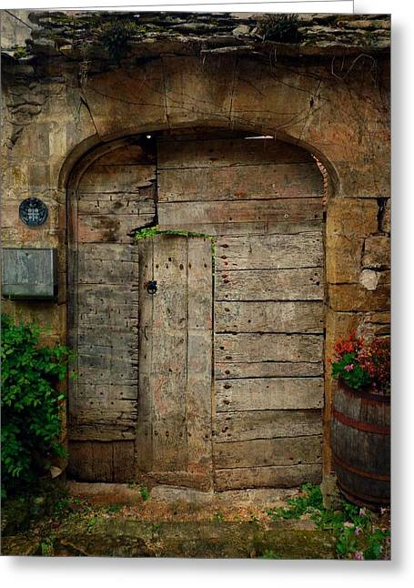 France Doors Greeting Cards - Door to the Secret Garden Greeting Card by Danny Van den Groenendael