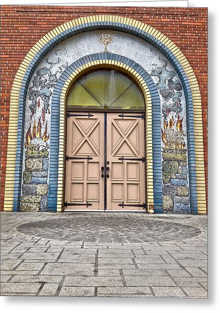 Doors Of Faith  Greeting Card by JC Photography and Art