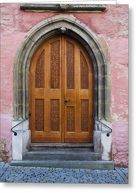 Entrance Door Greeting Cards - Doors of Germany Greeting Card by Cecil Fuselier