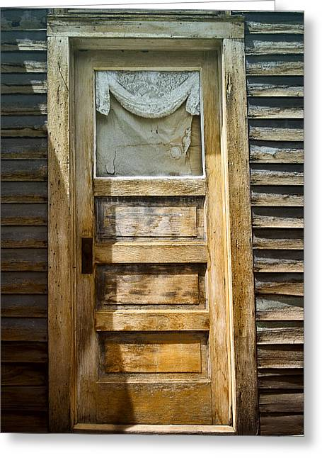 Entrance Door Greeting Cards - Doors of St Elmo I Greeting Card by Ellen Heaverlo
