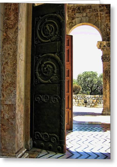 The Church Greeting Cards - Doors to All Nations Greeting Card by Douglas Barnard