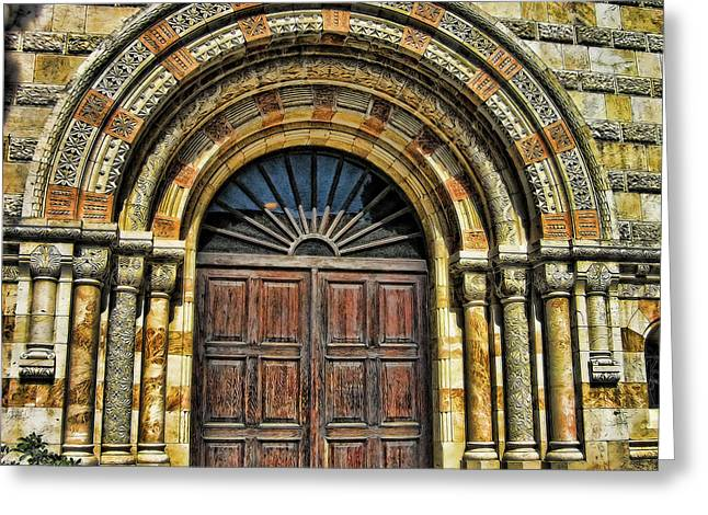 Historical Buildings Greeting Cards - Doors to Holiness Greeting Card by Douglas Barnard