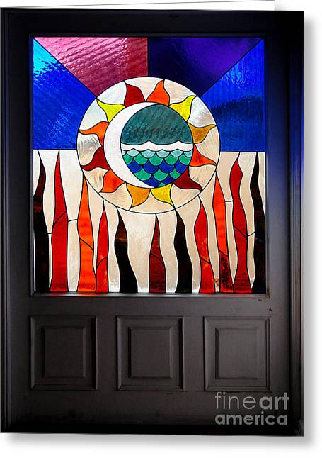 Entryway Greeting Cards - Doorway Of Choice Greeting Card by Al Bourassa