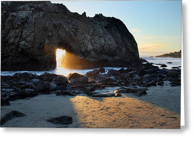 Big Sur Beach Photographs Greeting Cards - Doorway to heaven in Big Sur Greeting Card by Pierre Leclerc Photography