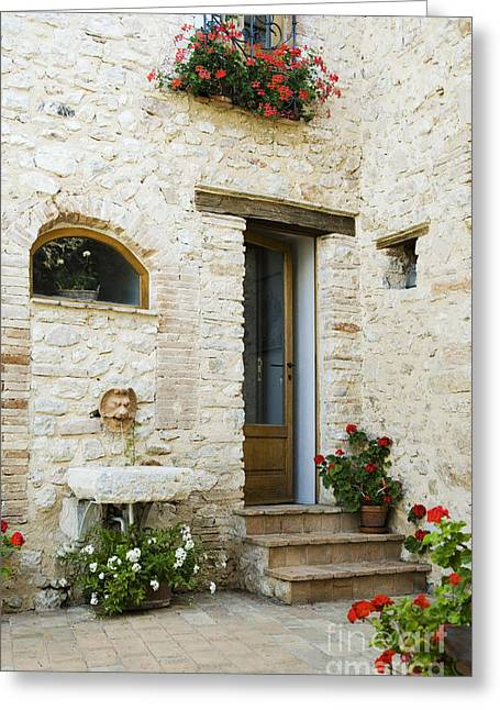 Stepping Stones Greeting Cards - Doorway to Home Greeting Card by Andersen Ross