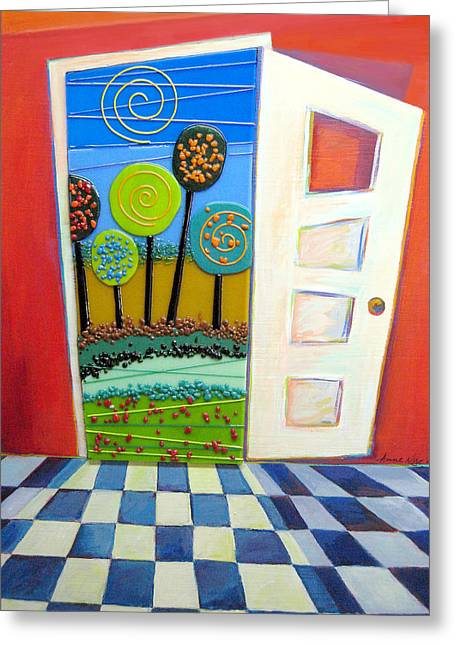 Destiny Mixed Media Greeting Cards - Doorway To Somewhere Greeting Card by Anne Nye