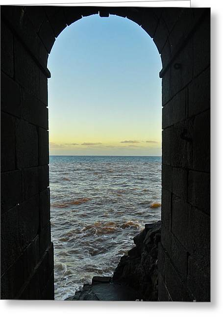 Nabucodonosor Perez Greeting Cards - Doorway to the sea Greeting Card by Nabucodonosor Perez