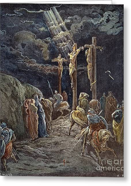 Dore Greeting Cards - DorÉ: Crucifixion Greeting Card by Granger