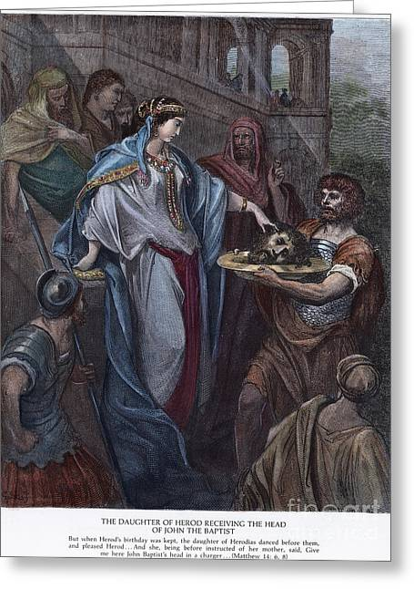 Beheading Photographs Greeting Cards - DorÉ: Daughter Of Herod Greeting Card by Granger