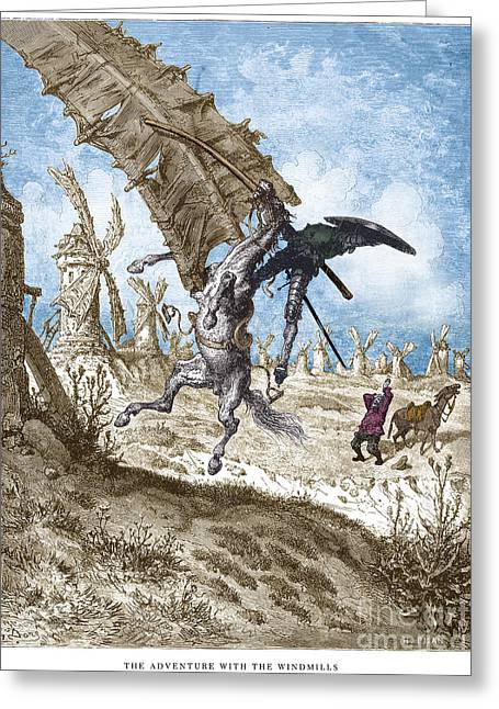 Sancho Panza Greeting Cards - DorÉ: Don Quixote Greeting Card by Granger